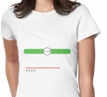 Pape station Womens Fitted T-Shirt