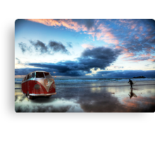 Sunset Surfer VW Camper Van Canvas Print