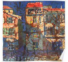 French Windows Watercolor Batik Poster