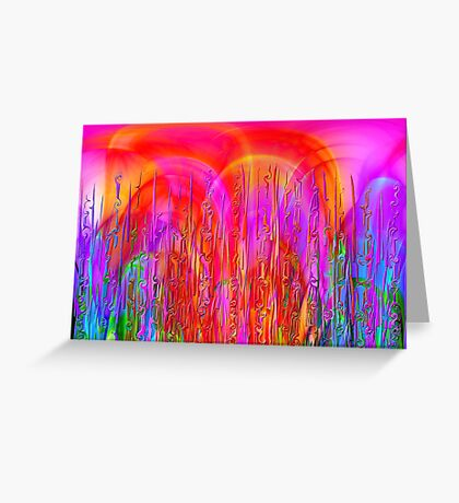 Psychedelic Jungle Greeting Card
