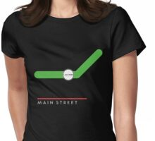 Main Street station Womens Fitted T-Shirt