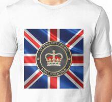 Royal Collection - St Edward's Crown over UK Flag  Unisex T-Shirt