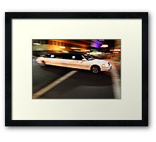 Limo driving Framed Print