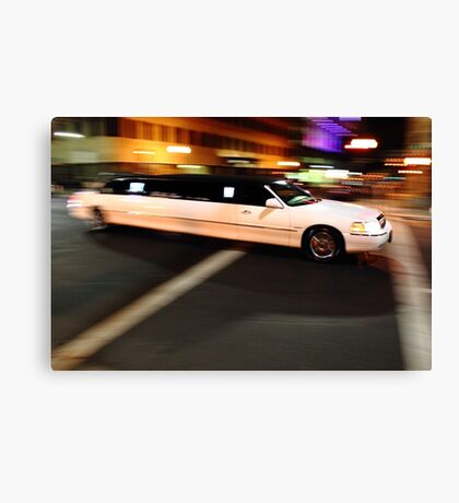 Limo driving Canvas Print
