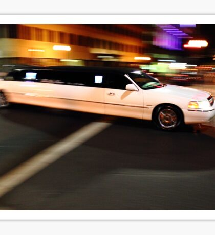 Limo driving Sticker