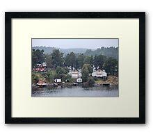 home on the shore Framed Print