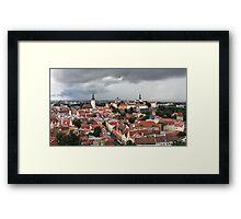 medieval town Tallinn, Framed Print