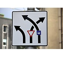 Bizarre Road Signs Photographic Print