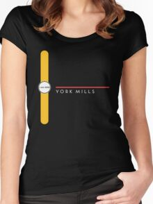 York Mills station Women's Fitted Scoop T-Shirt