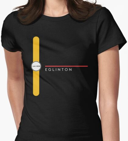 Eglinton station Womens Fitted T-Shirt