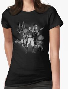 Serenity: The Alliance Strikes Back (black and white version) Womens Fitted T-Shirt