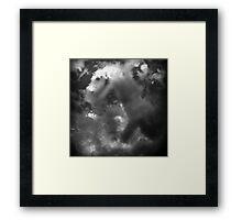 ©HCS Dragon Cloud Mono Framed Print