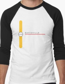 Davisville station Men's Baseball ¾ T-Shirt