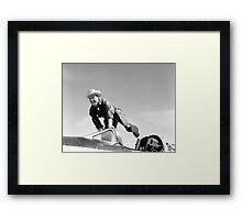 Pilot Joe Walker and the X-1A Framed Print