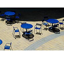 Tables and Chairs Photographic Print