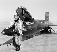 Pilot Neil Armstrong and X-15 #1 by Space Photo Shop