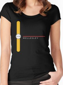 Wellesley station Women's Fitted Scoop T-Shirt