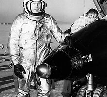 Pilot Neil Armstrong with X-15 #1 by Space Photo Shop