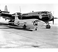 X-1-2 on Ramp with Boeing B-29 Photographic Print