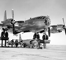 X-1-3 Being Mated To EB-50A Superfortress by Space Photo Shop