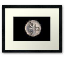 slovak coins Framed Print