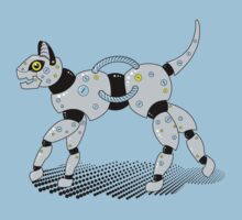 Robot Cat (Yellow Eyes) Kids Clothes