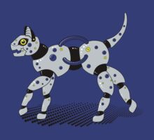 Robot Cat (Yellow Eyes) by Stephanie Jayne Whitcomb