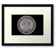 czechoslovak coin Framed Print
