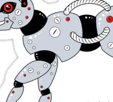Feed Your Robot Cat (Red Eyes) Sticker