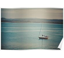 Boat at Holy Island Poster