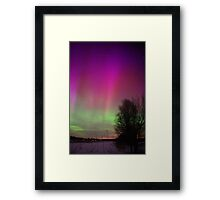 Powerful Northern Lights Framed Print