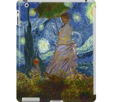 Monet Umbrella on a Starry Night iPad Case/Skin
