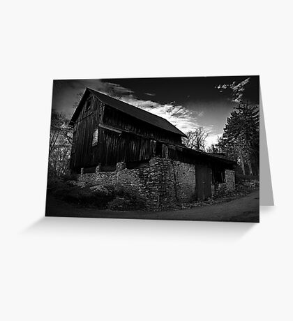 Old Abandoned Barn Greeting Card