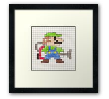 Luigi's 8-Bit Mansion Framed Print
