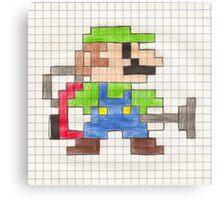 Luigi's 8-Bit Mansion Canvas Print