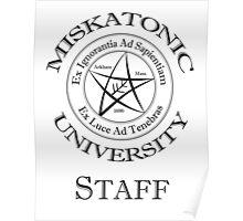 Miskatonic University - Staff Poster