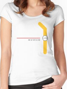 Museum station Women's Fitted Scoop T-Shirt