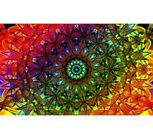 Rainbow Mandala Photographic Print