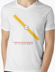 St. Clair West station Mens V-Neck T-Shirt