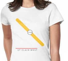 St. Clair West station Womens Fitted T-Shirt