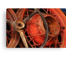 Antique Rims and Wheels Canvas Print
