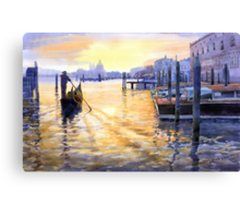 Italy Venice Dawning Canvas Print