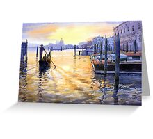 Italy Venice Dawning Greeting Card