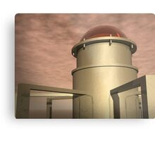 Mysterious Bronze Structure Metal Print