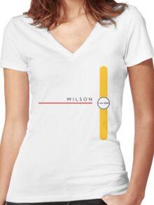 Wilson station Women's Fitted V-Neck T-Shirt