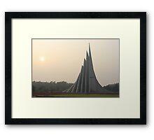 National Martyr's Monument, Bangladesh Framed Print