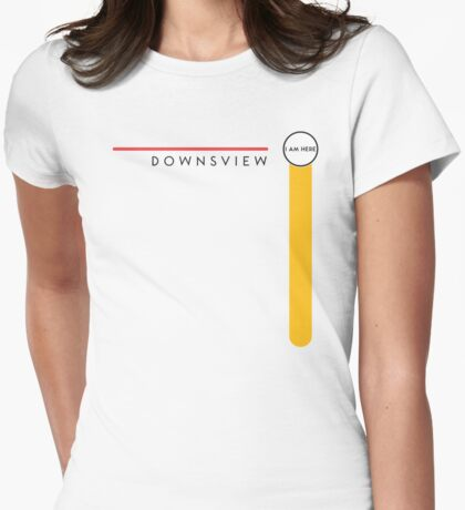 Downsview station (1996–2016) Womens Fitted T-Shirt