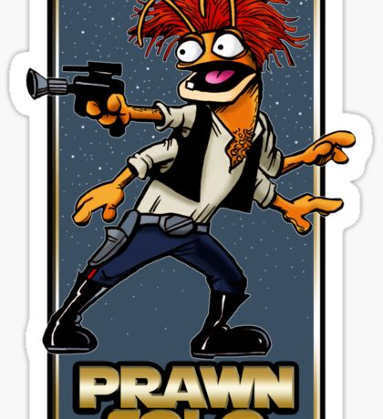 Prawn Solo Sticker