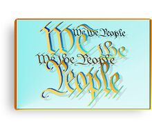 Gold and Blue-We The People Canvas Print