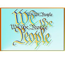 Gold and Blue-We The People Photographic Print